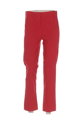 infini moi pantalons femme de couleur rouge