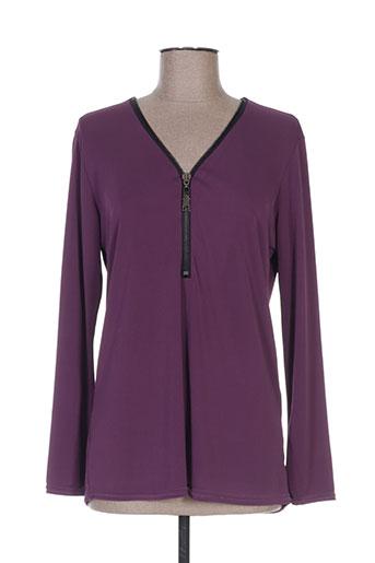 fafa mod t-shirts femme de couleur violet