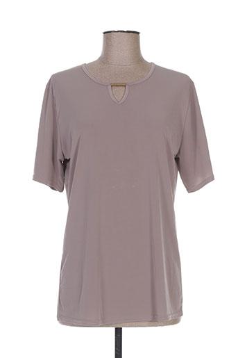 fafa mod t-shirts femme de couleur marron