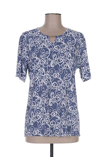 fafa mod t-shirts femme de couleur bleu