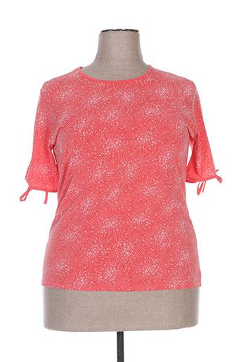 fafa mod t-shirts femme de couleur orange
