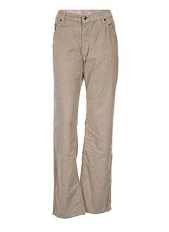 Pantalon casual beige FULL BLUE pour femme