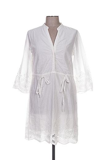 vila robes femme de couleur blanc