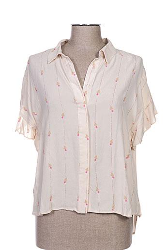 orfeo chemises femme de couleur beige