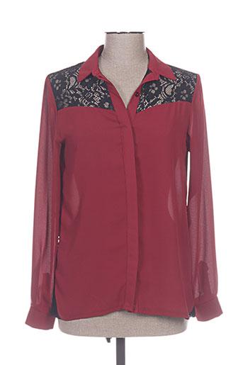 chrom chemises femme de couleur rouge