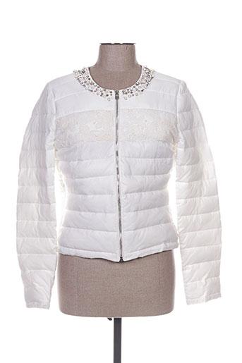 fracomina manteaux femme de couleur blanc
