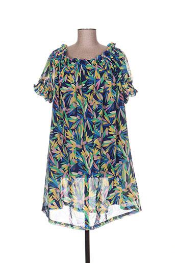 jcl robes femme de couleur bleu