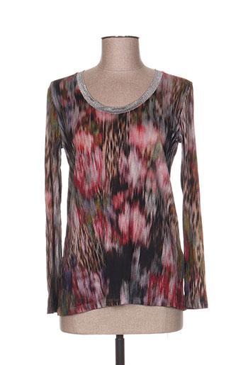 T-shirt manches longues gris JAVIER SIMORRA pour femme