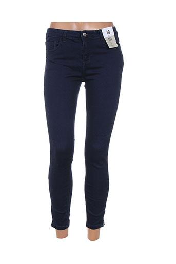 denim co jeans femme de couleur bleu
