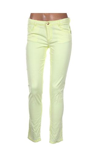 la redoute pantalons fille de couleur jaune