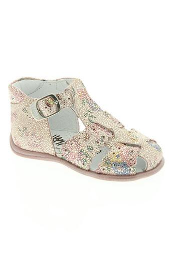 bellamy chaussures fille de couleur rose