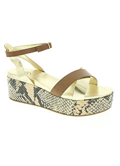 Sandales/Nu pieds beige B CONFITURE pour femme