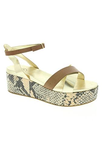 b confiture chaussures femme de couleur beige