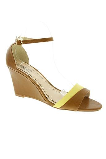 les secrets de vanessa chaussures femme de couleur marron