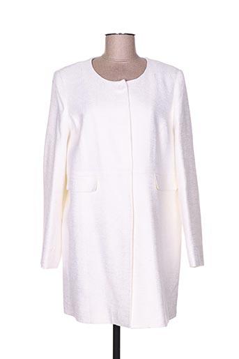 bariloche manteaux femme de couleur blanc