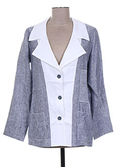 Veste casual bleu EVA TRALALA pour femme