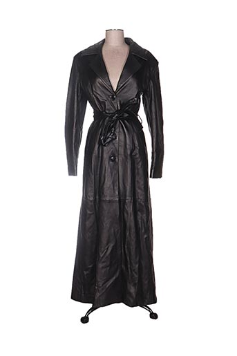 alan gerard manteaux femme de couleur noir