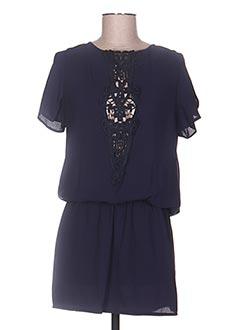 Robe courte bleu ENZO LOCO pour femme