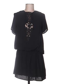 Robe courte noir ENZO LOCO pour femme