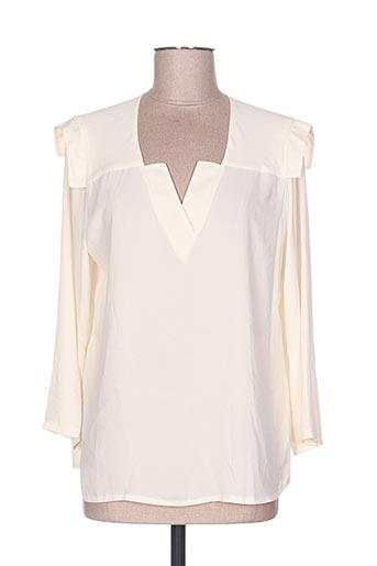 sweed paris chemises femme de couleur beige