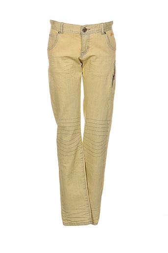 boboli pantalons fille de couleur jaune