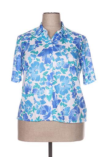 vitos chemises femme de couleur bleu