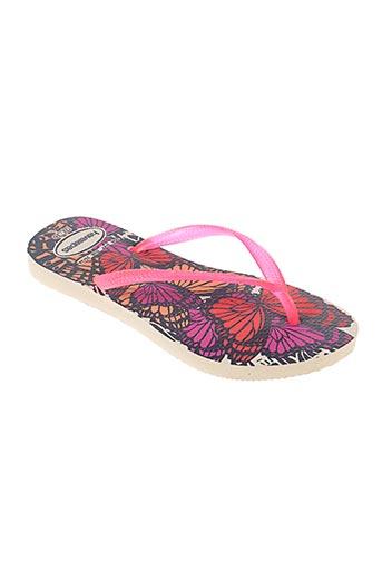 havaianas chaussures fille de couleur rose