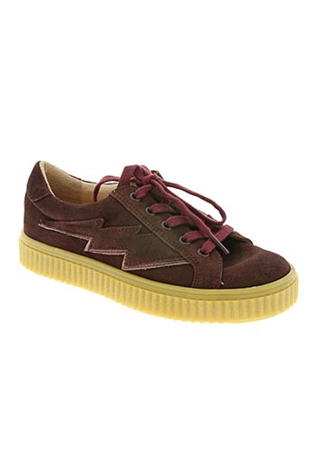 acebos chaussures femme de couleur rouge