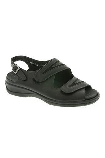 solidus chaussures femme de couleur noir