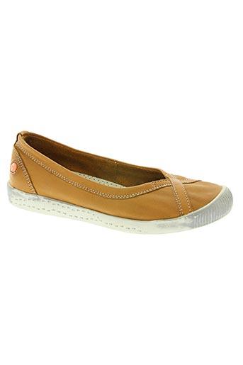 softinos chaussures femme de couleur marron