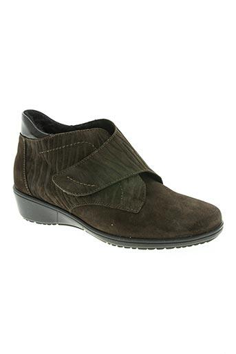 goldkrone chaussures femme de couleur marron