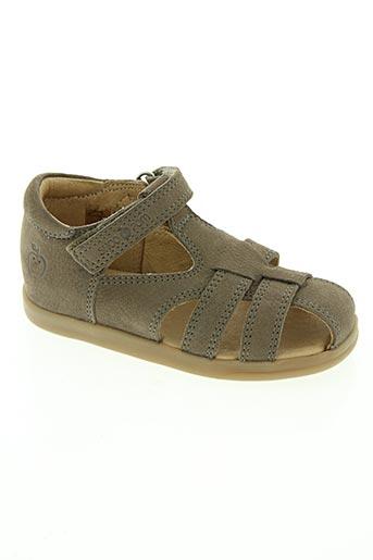 shoo pom chaussures garçon de couleur marron