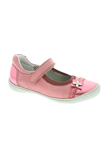 le loup blanc chaussures fille de couleur rose