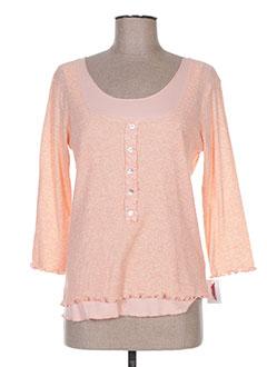 T-shirt manches longues orange BEVERLY pour femme