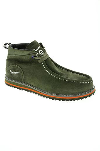 vespa chaussures homme de couleur vert