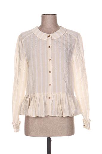 the korner chemises femme de couleur beige