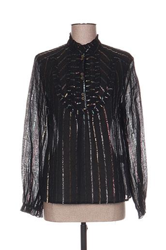 the korner chemises femme de couleur noir