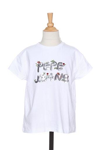 pepe jeans t-shirts fille de couleur blanc