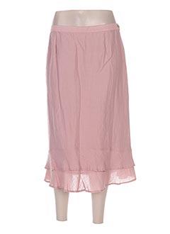 Jupe mi-longue rose BRIGITTE SAGET pour femme