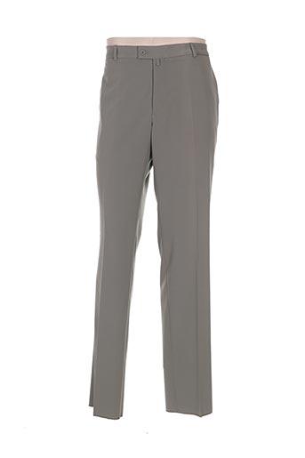 gianni marco pantalons homme de couleur vert
