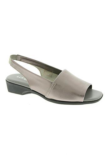 longo chaussures femme de couleur gris