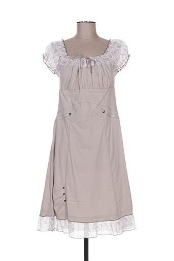 sarah luna robes femme de couleur gris