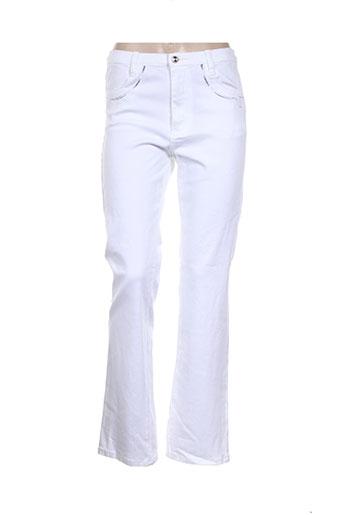maille indigo pantalons femme de couleur blanc