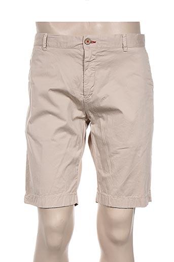 giorgio bellini shorts / bermudas homme de couleur beige