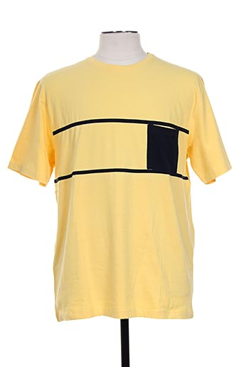 giorgio bellini t-shirts homme de couleur jaune