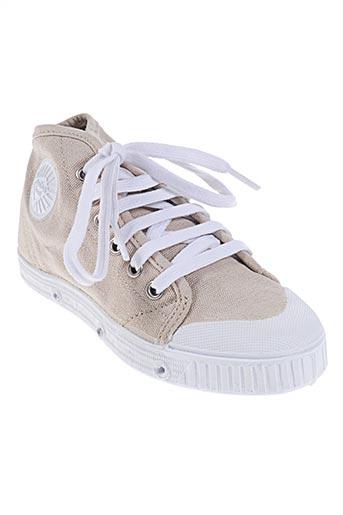 spring court chaussures enfant de couleur beige