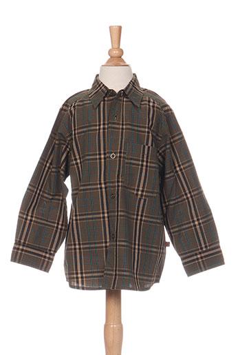 jean bourget chemises garçon de couleur vert