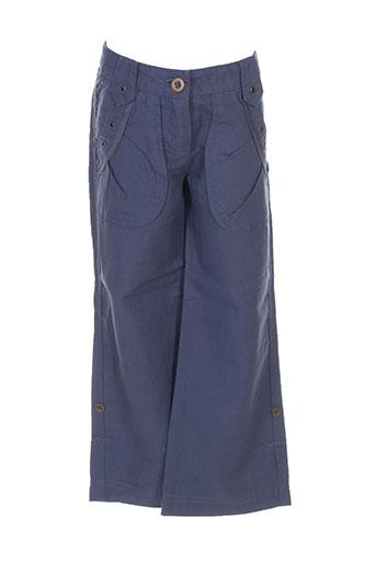 jean bourget pantalons fille de couleur bleu