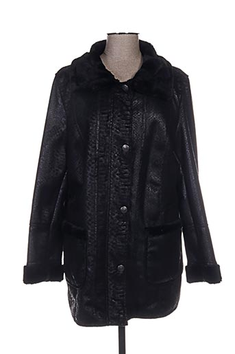 lebek manteaux femme de couleur noir