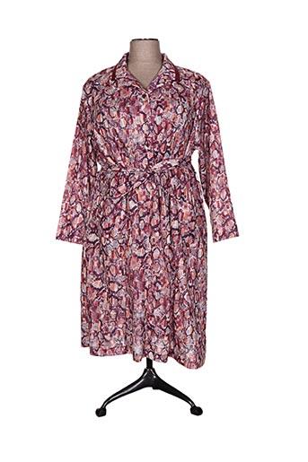 marie de marcille robes femme de couleur rose
